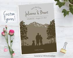 custom rustic save the date hiking save the date woodland