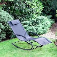 nevada garden rocking chair relaxer with pillow ebay