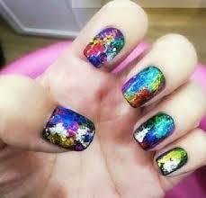 tutorial nail art foil nail art designs foil yellow polish road born pretty mixed metal