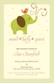 elephant baby shower invitation carter u0027s jungle jill yoga