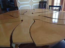 round radial expanding table tables san francisco built shop