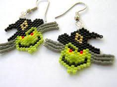 spooky house earrings halloween earrings brick stitch