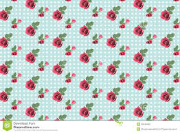 kitsch floral pattern wallpaper with roses stock illustration
