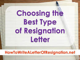 choosing the best type of resignation letter authorstream