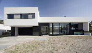 and white exterior color simple modern house design with glass