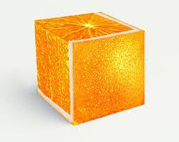 Orange Ottoman Orange Ottoman Etsy