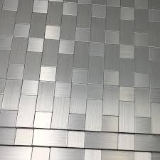 Metal Backsplashes For Kitchens Art3d 5 Piece Peel And Stick Tile Metal Backsplash For Kitchen