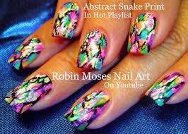 robin moses nail art abstract watercolor nails