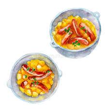 expression cuisine dublin coddle national cuisine watercolor illustration