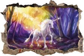 home loft concept unicorn in a fairytale forest wall sticker unicorn in a fairytale forest wall sticker