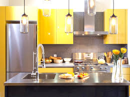 painted kitchen cabinet ideas freshome incredible blue and yellow