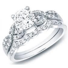 cheap wedding sets delightful cheap diamond wedding set 1 carat cut diamond on