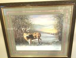 home interiors deer picture homco home interiors winter s morning deer picture 39 99 picclick