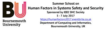 summer on human factors in systems safety and security u2013 bu