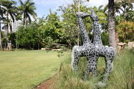 Miami Beach Botanical Garden by Miami Beach Botanical Garden Transformed Into African U0027sculpture