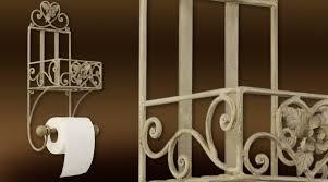 étagère en fer forgé pour cuisine etagère en fer forgé avec serviteur de papier toilette
