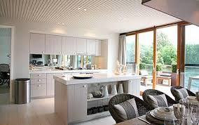 Open Plan Kitchen And Dining Room Ideas - cool inspiration kelly hoppen kitchen designs modern white kitchen