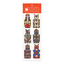 frank lloyd wright designs magnetic bookmarks browse