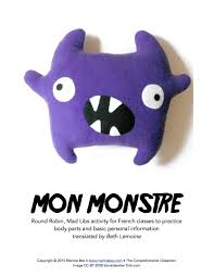 halloween mad libs mon monstre mad libs in french u2013 the comprehensible classroom