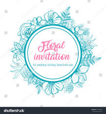 floral invitation card wedding birthday valentines stock vector