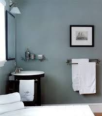 blue or a contemporary bathroom in smokey blue with stainless