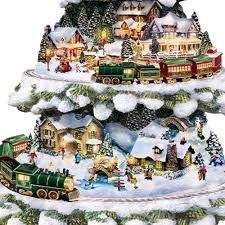 thomas kinkade wonderland express christmas tree with lights