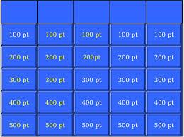 Jeopardy Template Easy Jeopardy Template 7 Blank Jeopardy Templates Jepordy Template