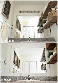 Diy Bathroom Mirror by Diy Framed Bathroom Mirrors Liz Marie Blog
