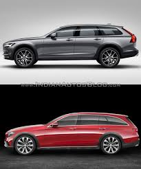 mercedes cross country volvo v90 cross country vs mercedes e class all terrain profile