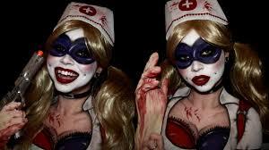harley quinn arkham city halloween costume harley quinn arkham asylum cospaint cosplay makeup youtube