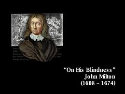 On His Blindness Questions And Answers On His Blindness John Milton