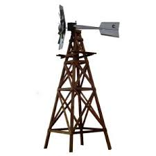 outdoor water solutions 16 ft 4 legged wooden ornamental windmill