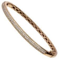 rose gold bracelet diamonds images Hermes 18 karat rose gold kelly h bracelet with diamonds at 1stdibs jpg
