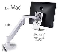 imac and apple cinema display monitor lift arm ilift tech