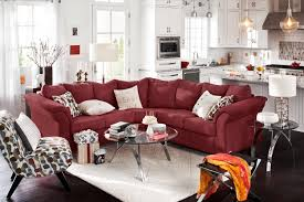 Living Room Chairs On Sale by Adrian Red 2 Piece Sectional Red American Signature Furniture