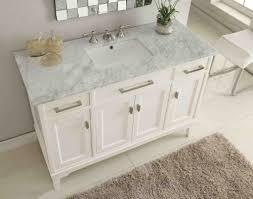 bathroom sink cabinets with marble top marble bathroom vanity 49 italian carrara top orson model gd