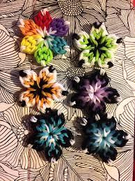 rainbow loom thanksgiving charms i u0027m having way too much fun making these rainbow loom flowers