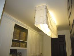 fluorescent light fixture fabric shade cool lighting ideas