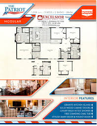 3 bedroom modular home floor plans schult homes patriot modular home plan