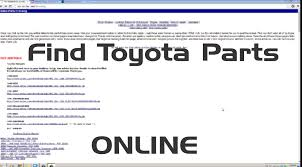 website toyota how to find toyota parts online youtube