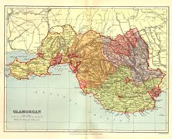 Map Of England And Wales Gazetteer Of England And Wales 1894 5 Glamorganshire