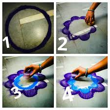 how to make rangoli from finger art finger art craft and clay