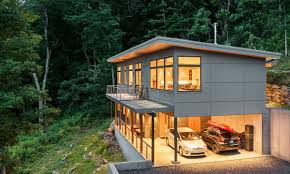 shed roof house passive solar residence in asheville carolina steep slope