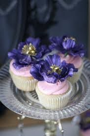purple peony wedding cake and cupcake favours 2425430 weddbook