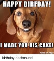 Birthday Cake Dog Meme - happy birfday i made you dis cake made on mgur birthday meme on