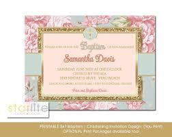 Baptism Invitations Free Printable Christening Blush Pink Gold Glitter Baptism Invitation Floral Shabby Chic