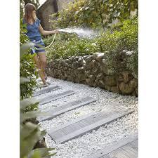 pierre pour jardin zen traverse en pierre reconstituée canisse 75 x 39 cm leroy merlin