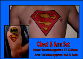 superman size chest arm fancy dress temporary