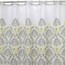 gray and yellow in a daze shower curtain at home at home