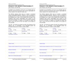 owner u0027s responsibility form
